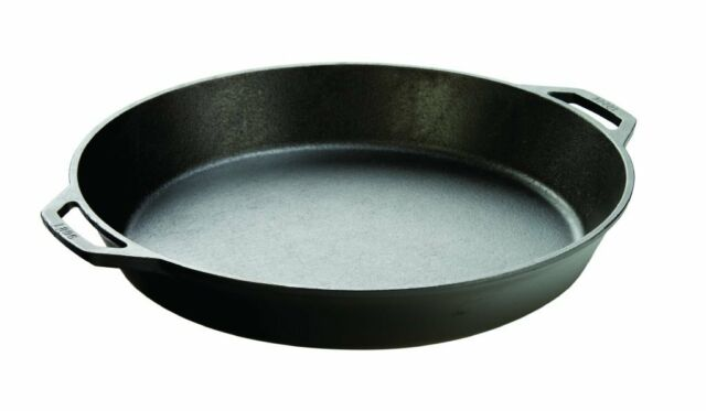 cast iron frying pan lodge cast iron skillet 17 in l17sk3 camping cookware ebay 29356