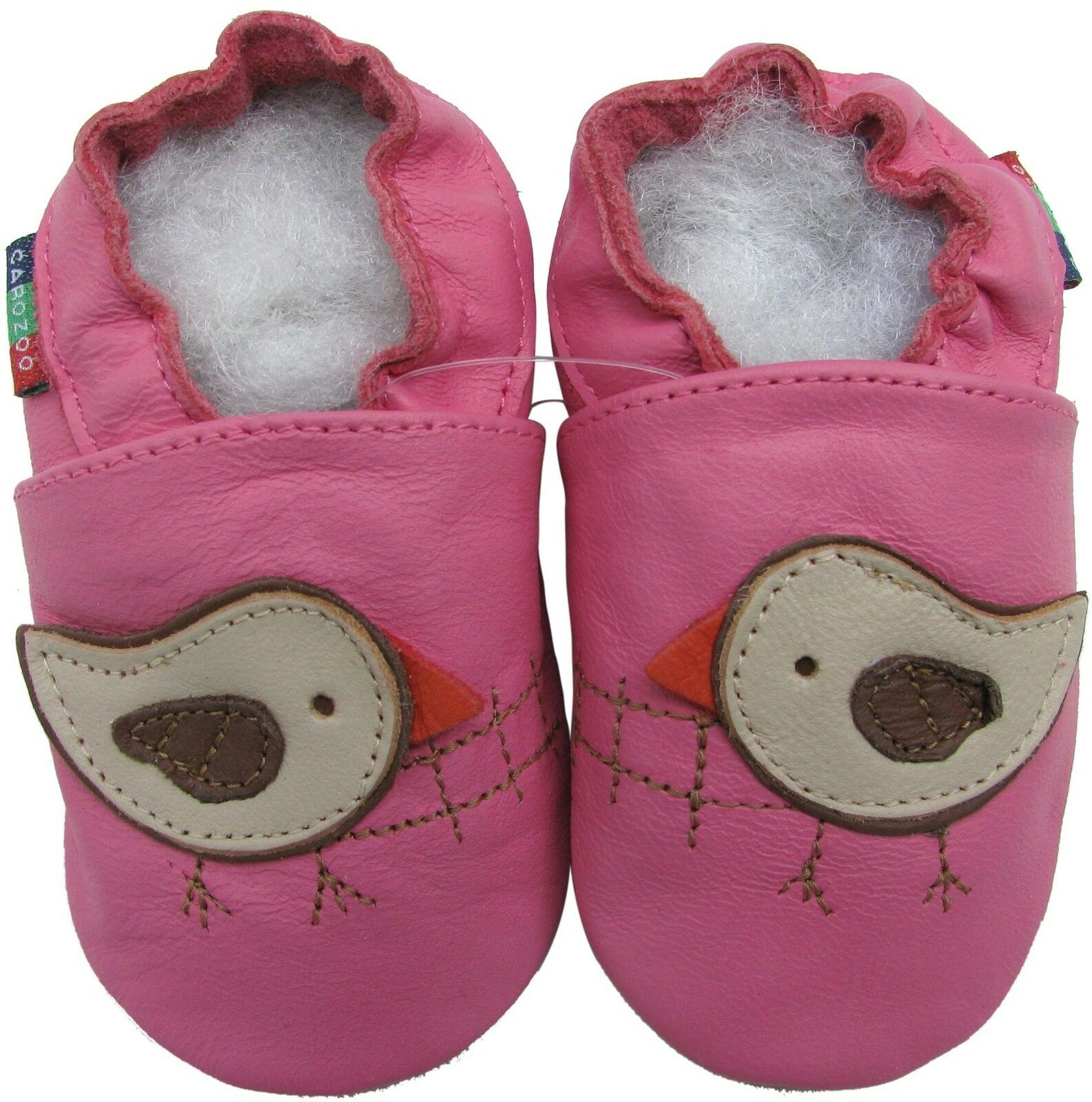Shoeszoo Bird Pink 18 24m S Soft Sole Leather Baby Shoes