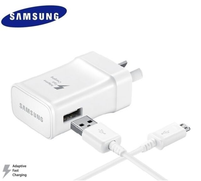 GENUINE SAMSUNG 9V ADAPTIVE FAST AC Wall Charger For S7 S6 Edge + Note 4 5