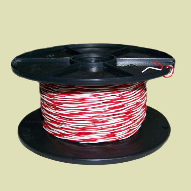 017614 Diverse Schaltdraht YV 2x0 5/0 9 Weiß/rot 100 | eBay