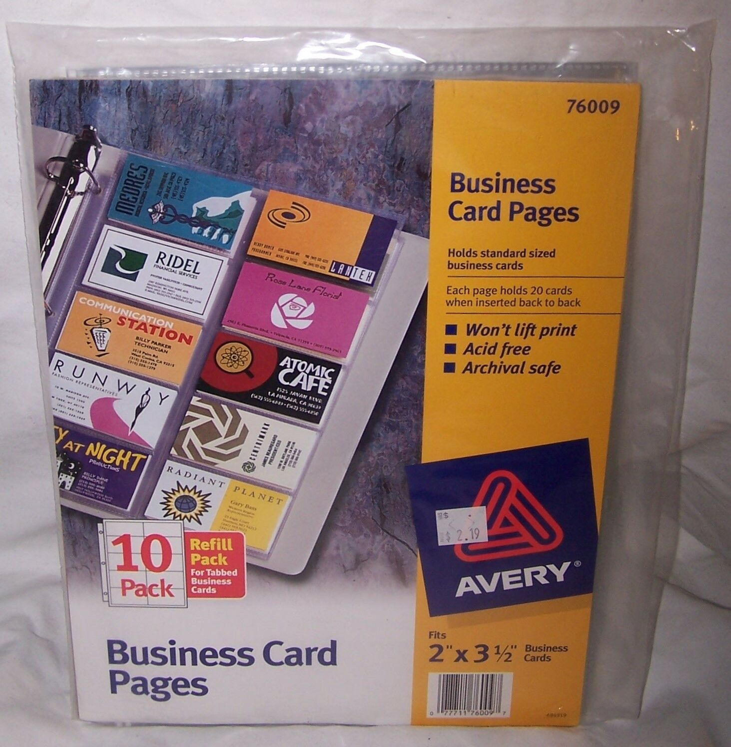 Avery business card pages pack of 10 76009 ebay picture 1 of 1 colourmoves Choice Image