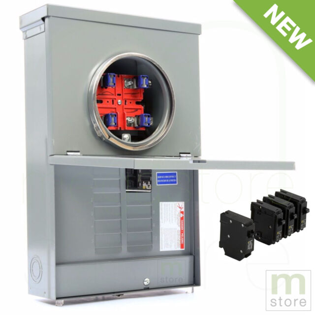 Electrical Distribution Panel With Meter : Square d amp load center main breaker panel meter