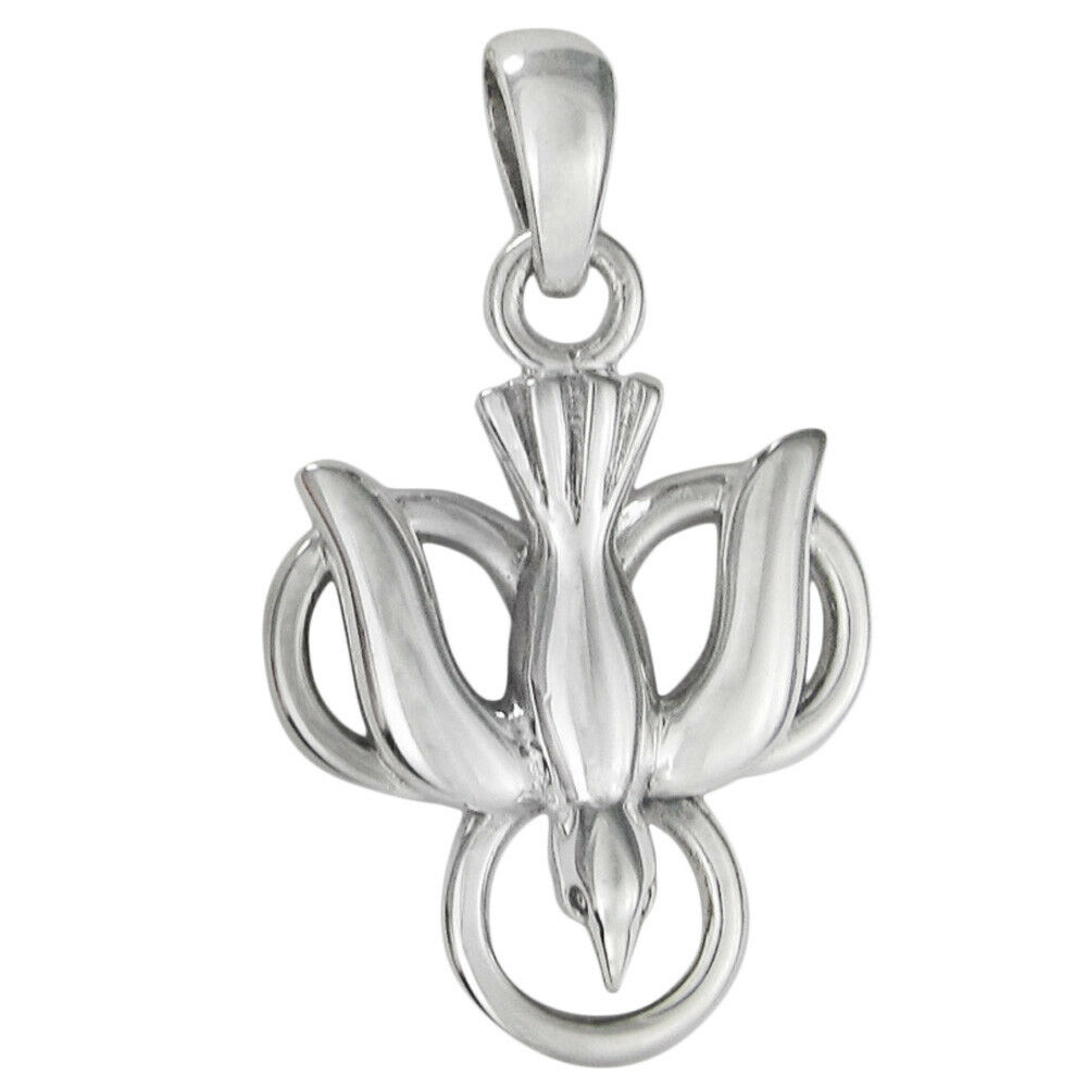 Sterling silver trinity dove pendant holy spirit symbol christian picture 1 of 1 aloadofball Image collections