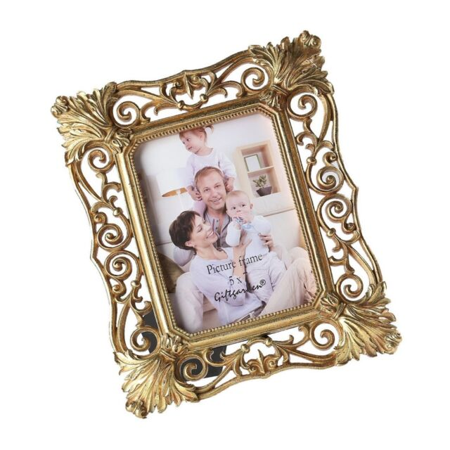 Gift Garden 5x7 Gold Picture Frame Vintage Hollow up Photo Display ...