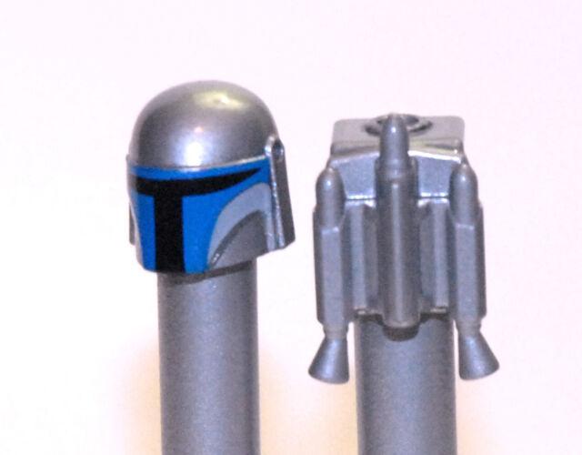 Lego Star Wars Custom Jango Fett Helmet & Jet Pack- Metallic ...