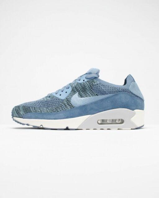 uomini nikelab air max 90 flyknit scarpe nike 876320 nebbia blu oceano
