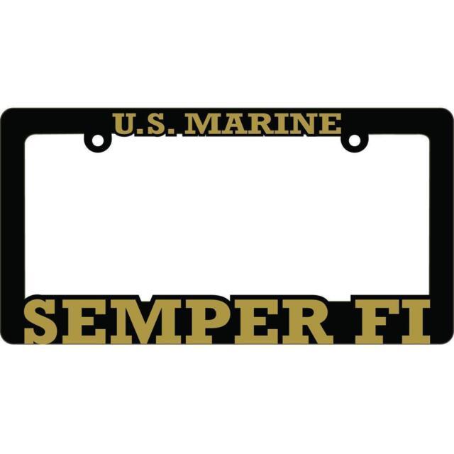 US Marine Corps Semper Fi License Plate Frame Black   eBay