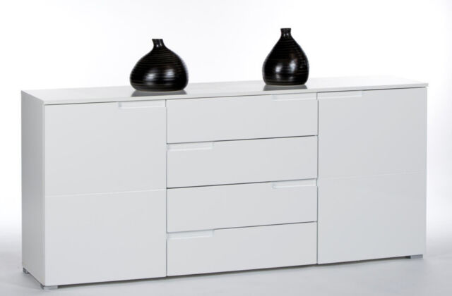roller spice sideboard 8 wei hochglanz wohnzimmer schrank ebay. Black Bedroom Furniture Sets. Home Design Ideas