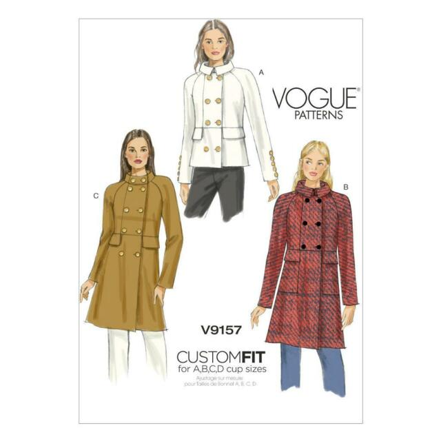 Vogue Patterns 9157 A5 Sizes 6 - 14 Misses Coat Sewing Pattern Multi ...