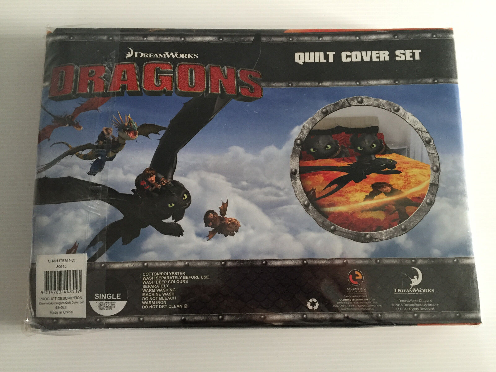 Dreamworks how to train your dragon chau single twin bed quilt cover picture 1 of 3 ccuart Gallery