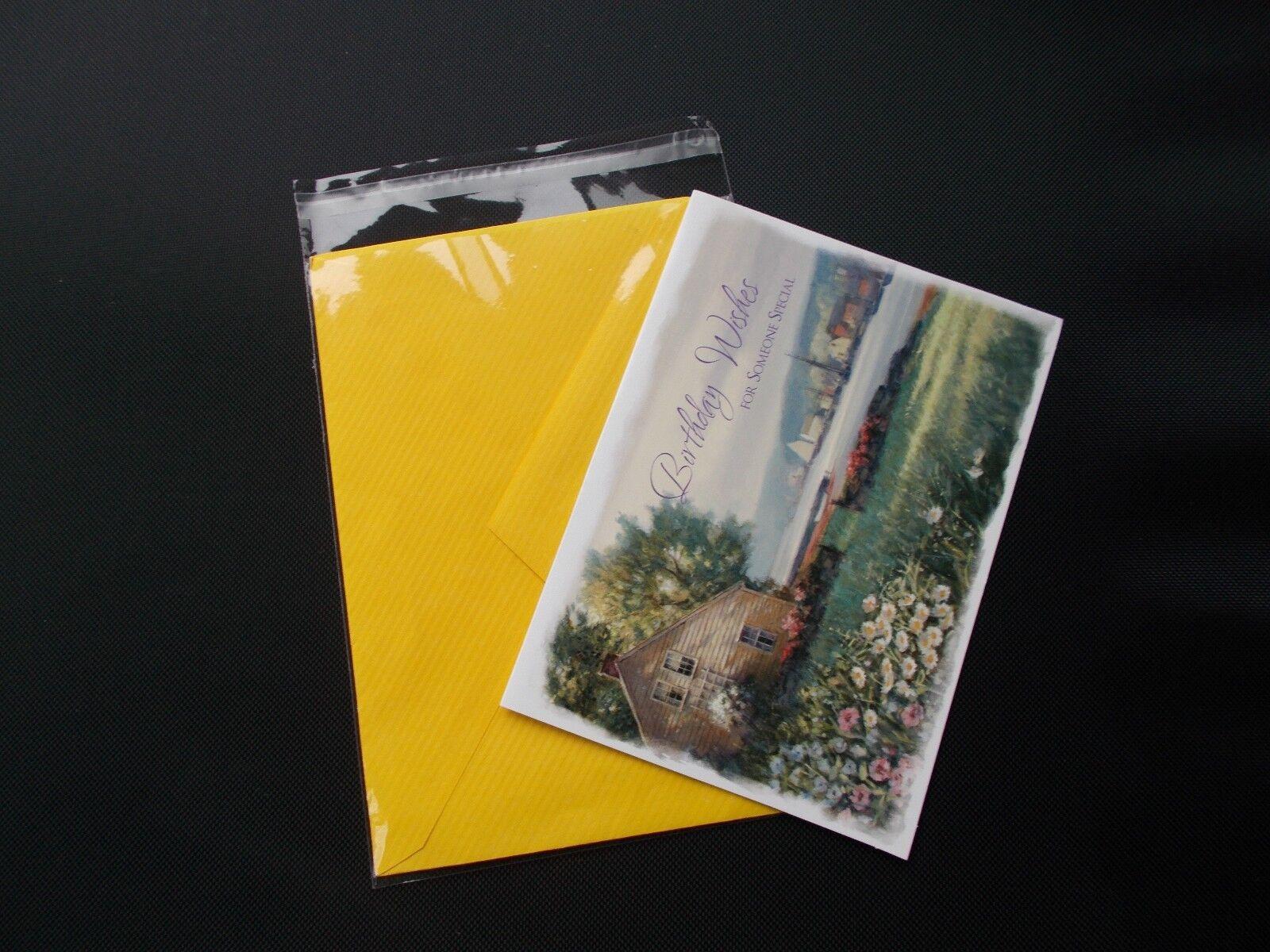 200 Clear Cello Bags 3 1316x 5 316 A1 Card Envelope Resealable