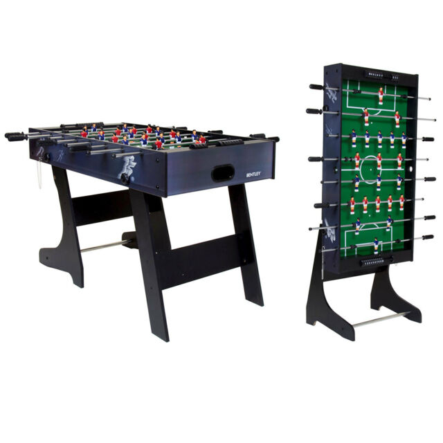 table football. charles bentley premium 4ft folding football table games foosball sports