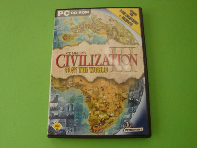 Sid Meier's Civilization III - Play the World (PC, 2003, DVD-Box)