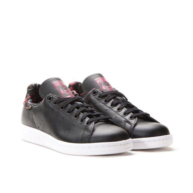 Adidas Stan Smith Originali Scarpe Donna Taglia 10 Nero / Vivber Ebay