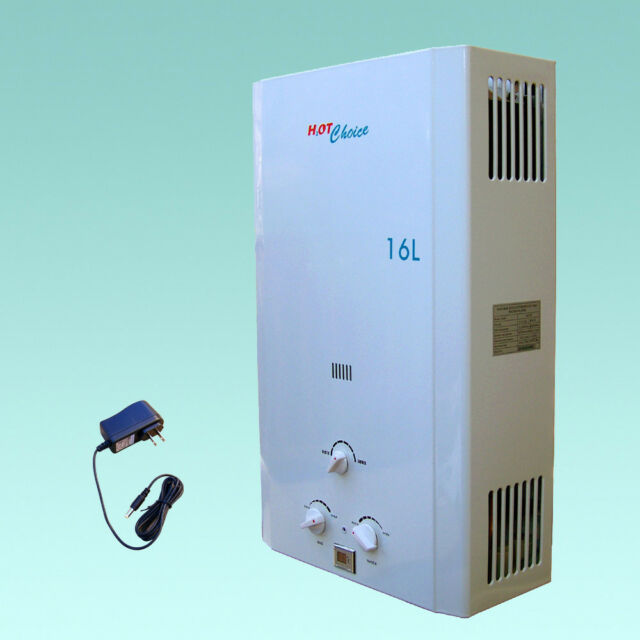 hot choice natural gas tankless water heater 16l whole house ebay. Black Bedroom Furniture Sets. Home Design Ideas