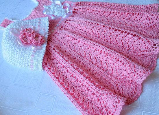 Crochet Pattern Harvest Baby Dress Christening Baptism Ebay