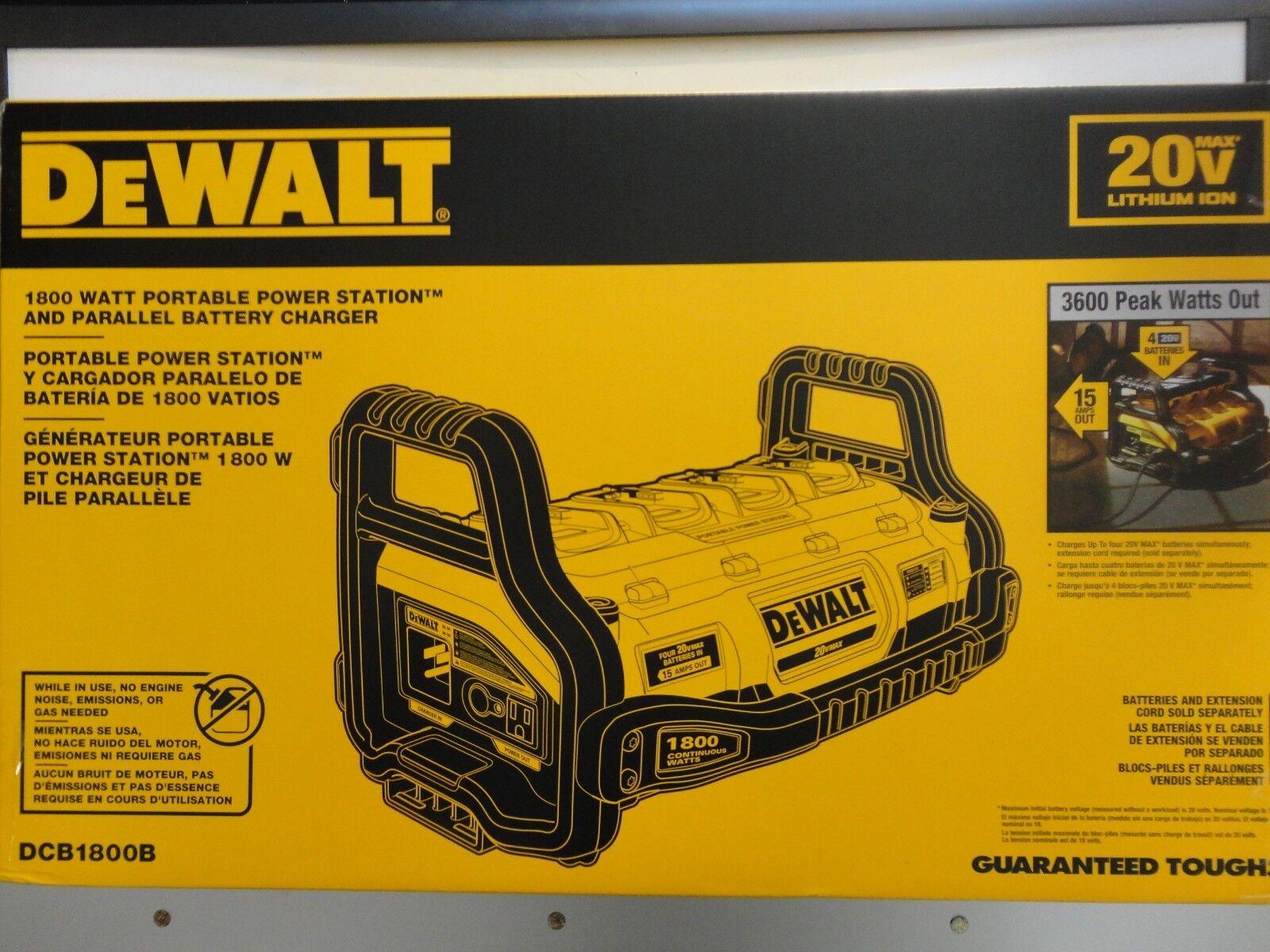 dewalt 20v portable power station and charger dcb1800b ebay