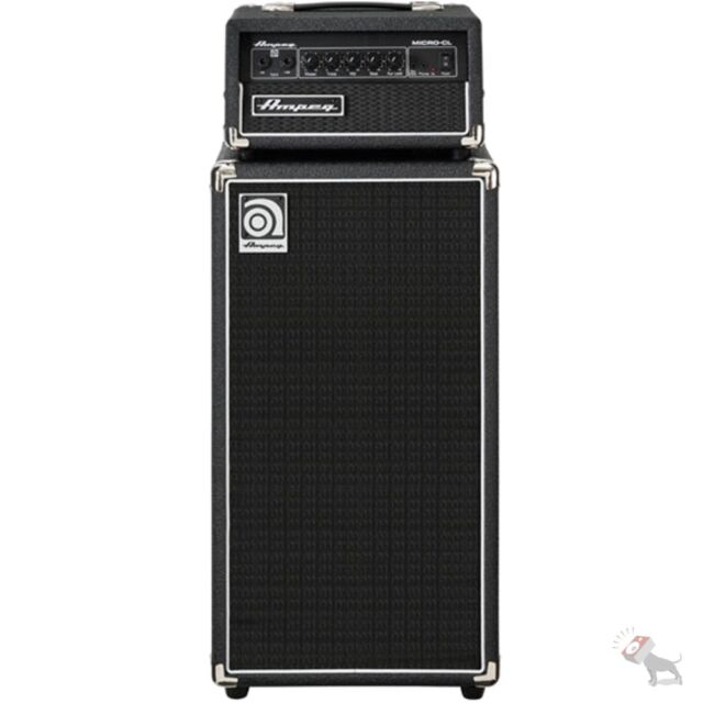 ampeg micro cl micro cl bass amp stack 100 watt head with 2 x 10 cabinet ebay. Black Bedroom Furniture Sets. Home Design Ideas