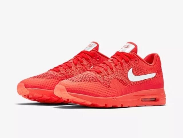 Nike Air Max 1 Ultra Flyknit Sz 12 Crimson Red Women's Running Shoes 843387-601