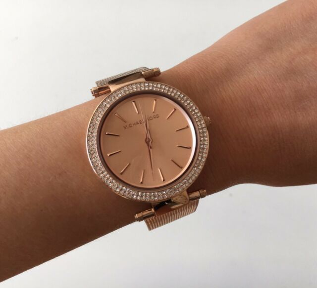 Michael kors mk3369 womens quartz watch ebay michael kors mk3369 rose gold tone darci watch free express post gumiabroncs Choice Image