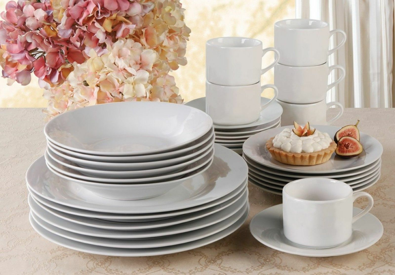 & Gibson Rosendal 30-piece Expanded Dinnerware Set Service for 6 | eBay