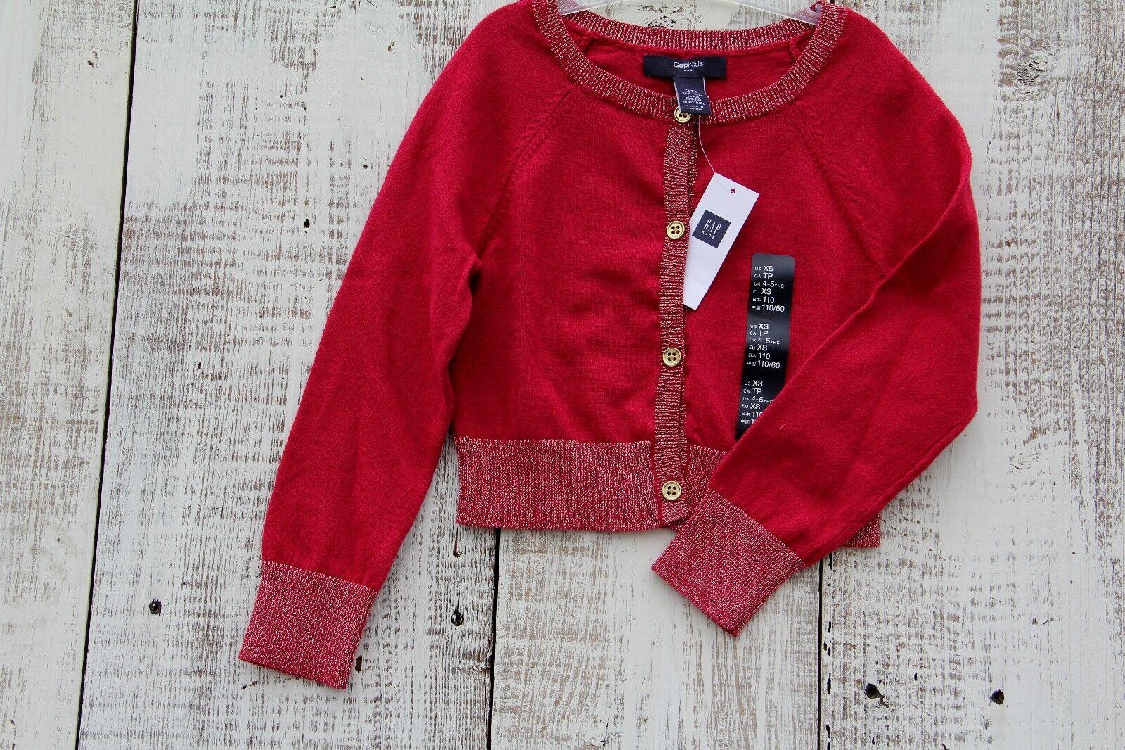 Gap Kids Girls Sz 10-11 Sparkle Dark Pink Button Down Sweater ...