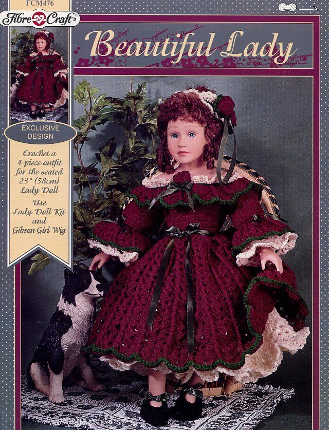 Lady Fibre Craft Crochet Doll Clothes Pattern Booklet Fcm476 Ebay