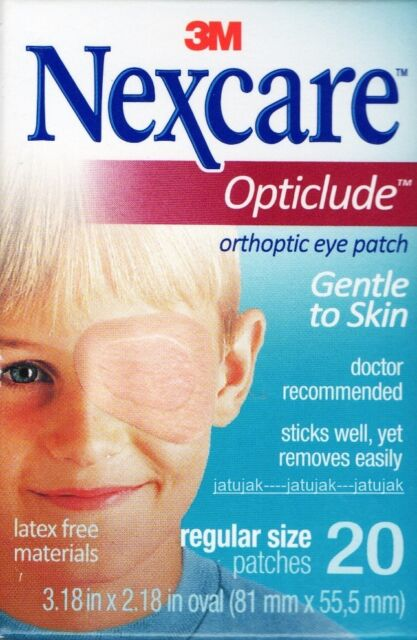 Nexcare 3M Opticlude Eye Patch Regular Size 1 Box 20 Pcs Orthoptic Exp 2021