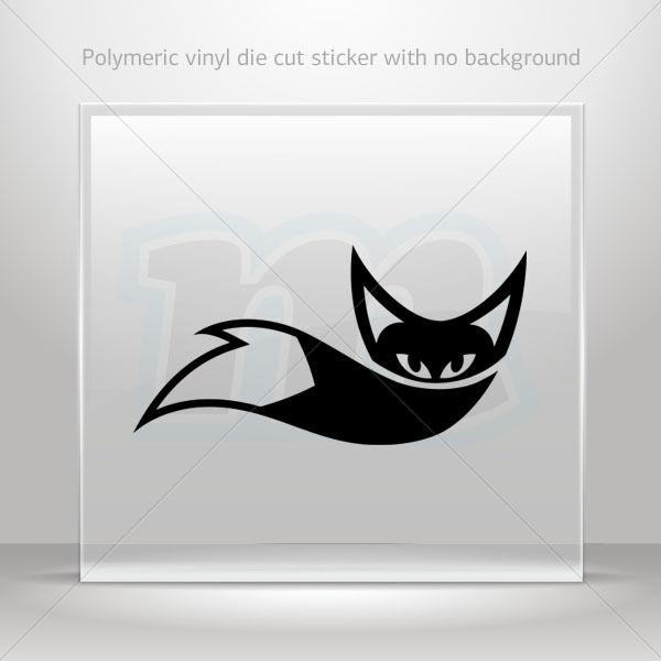 Decal stickers fox design helmet atv bike polymeric vinyl garage st5 xxr86 6 inches ebay