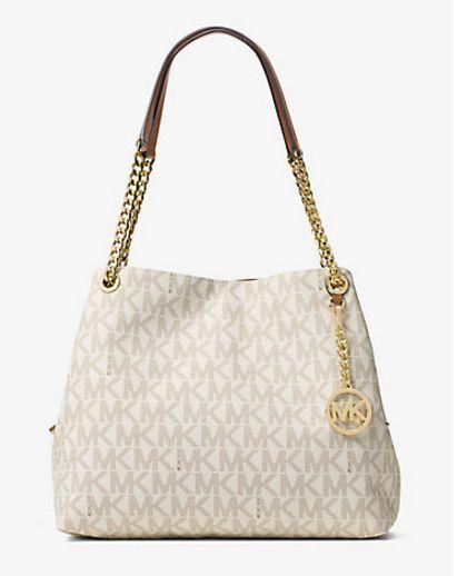 Michael Kors Handbag Large Logo Jet Set Item Chain Shoulder Bag Tote Ebay