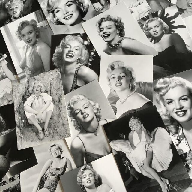 Lots 30 pcs Marilyn Monroe Postcard Classic Black & White Photos Post Cards Bulk