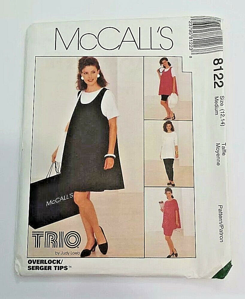 Uncut mccalls 8122 misses maternity dress tops pants more sewing picture 1 of 2 ombrellifo Image collections