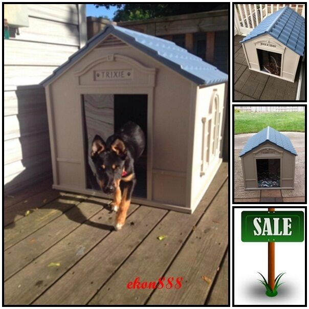 large outdoor dog house cage puppy kennel dwelling strong ya