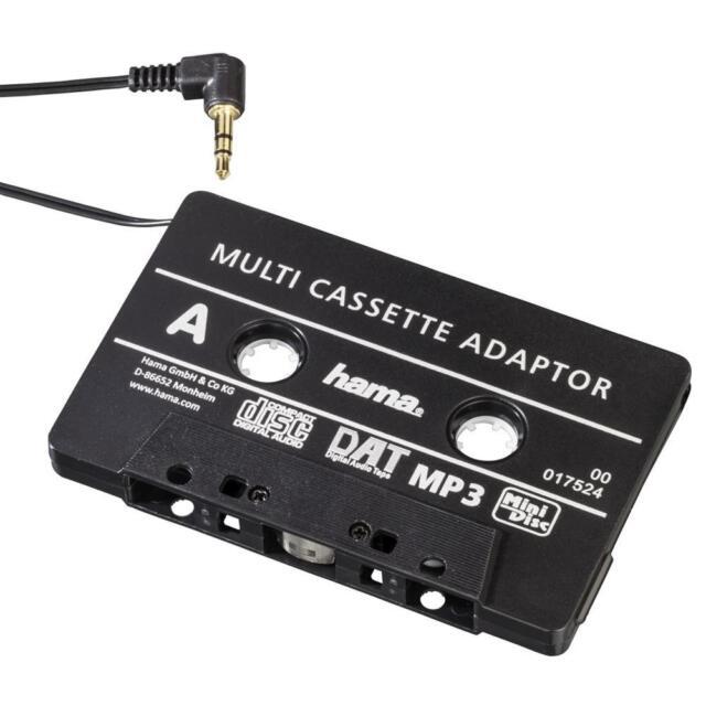 Hama 17524 KFZ-Kassettenadapter für Smartphones, MP3-Player, 3,5mm-Klinke