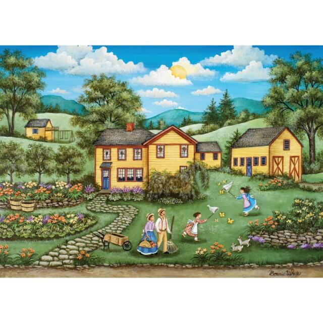 BONNIE WHITE HEARTLAND JIGSAW PUZZLE BUTTERFLY GARDENS 1000 PCS #30680