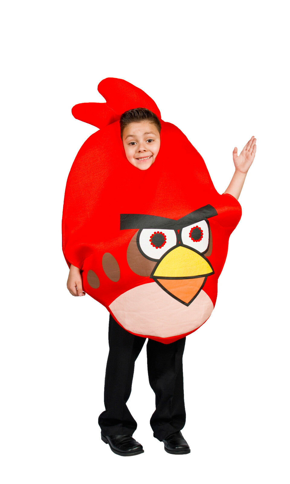 red angry bird light up costume kids halloween boys & girls size 5 6