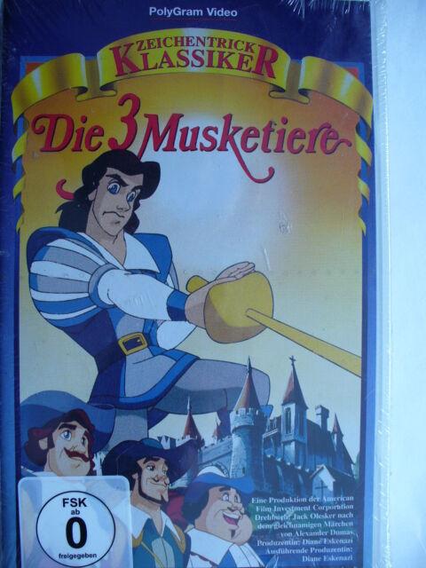 VHS/ Die 3 Musketiere - Zeichentrick Klassiker !! NEU&OVP !!