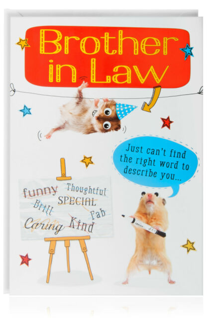 Brother In Law Birthday Funny Humour Joke Card Greetings Animal