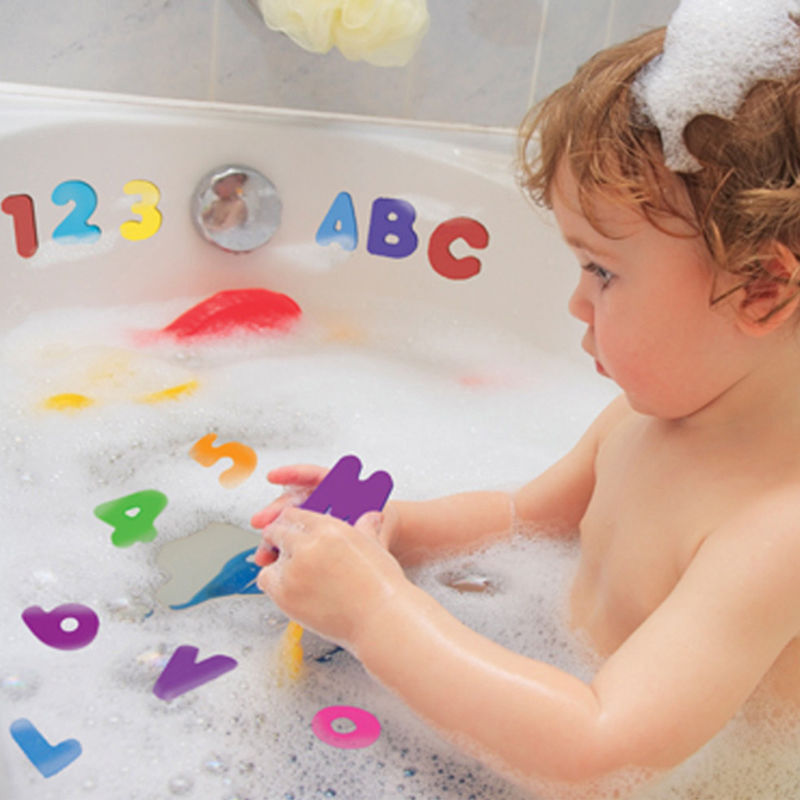 36pcs Baby Kids Children Floating Bathroom Bath Tub Toys Foam Letters Numbers