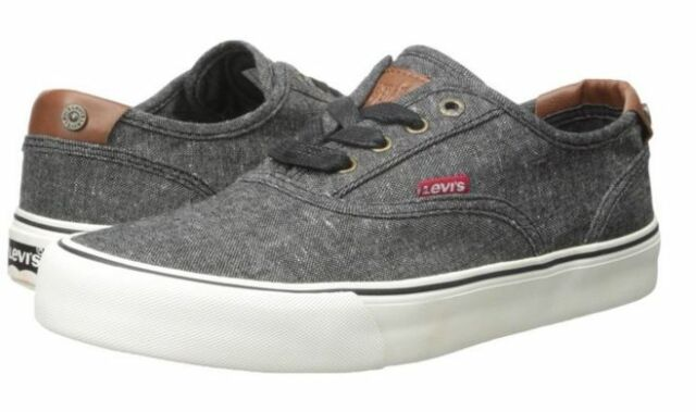 LEVIS 517005-01A ROB CHAMBRAY Mn's (M) Black Canvas Skate Shoes
