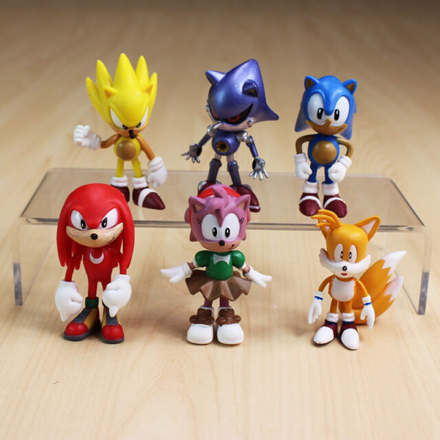 6pcs sonic the hedgehog tails mephiles knuckles figure doll