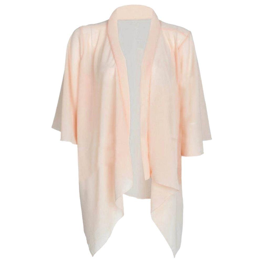 Womens Ladies Plain Chiffon Kimono Cardigan Shrug Open Waterfall ...