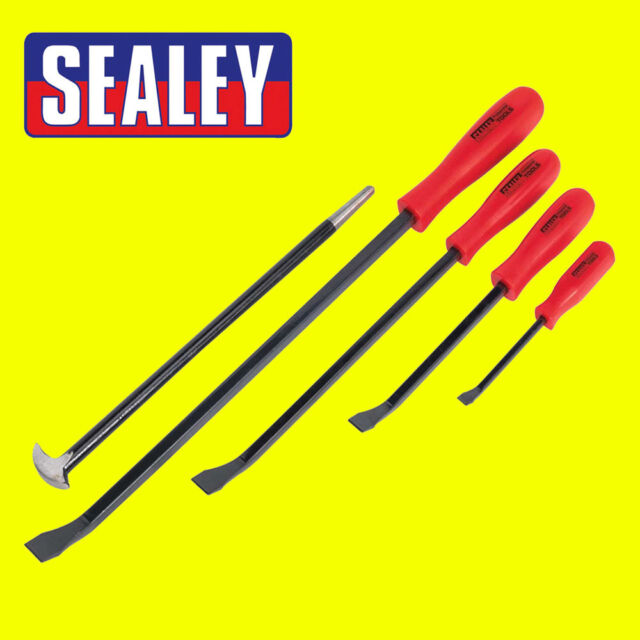 Sealey Steel Heavy Duty Prybar/Crow Bar/Lever/Heelbar Set 5pc - AK20641