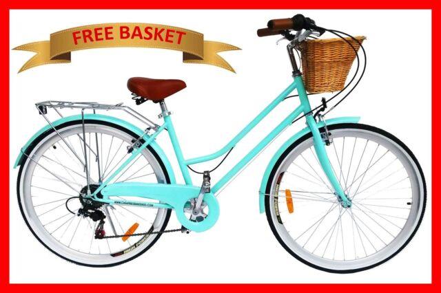 BRAND NEW VINTAGE RETRO LADIES BICYCLE / BIKE 6 SPEED BEACH CRUISER MINT GREEN