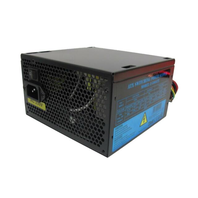 PSU 500w ATX Switching Power Supply 12cm Silent Black Fan for PC ...