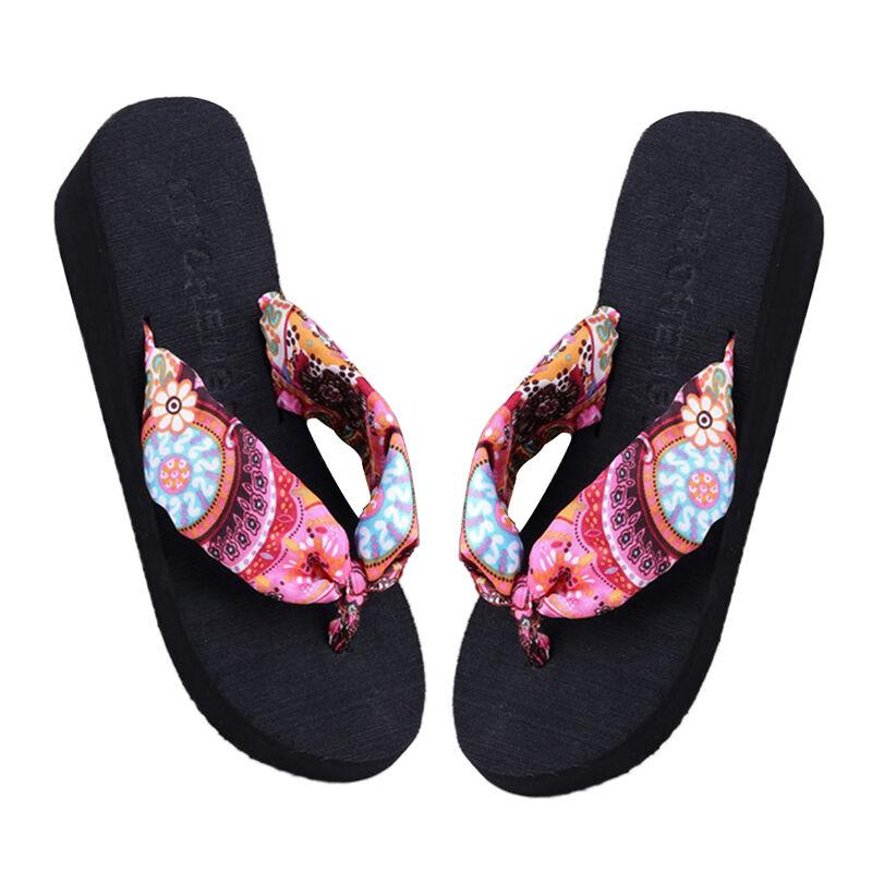 Summer Soft Women Wedge Sandals Bohemia Flip Flops Flat Platform Slippers