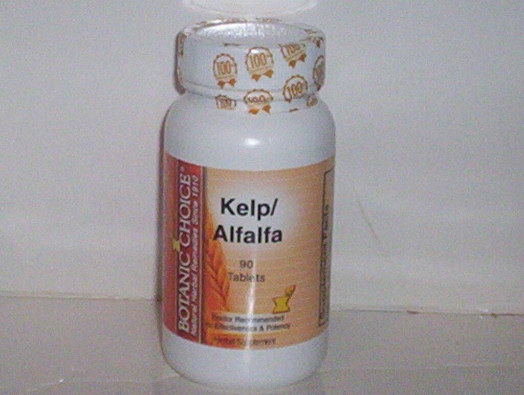 Kelp 150mcg Alfalfa 200mg Iodine Skin Nails Botanic Choice ...