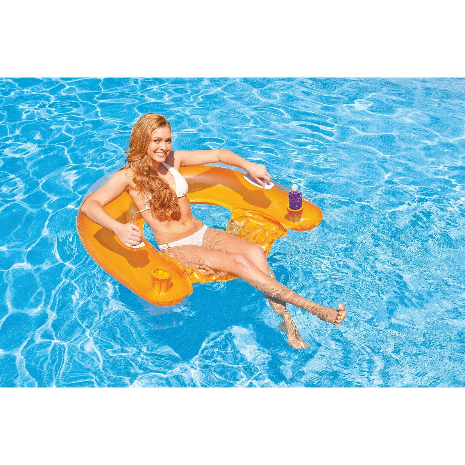 Intex Sit N Float Lounge Colors May Vary 60x39 Inch Swimming Pool