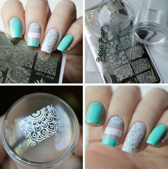 Arabesque Nail Art Stamp Plate Xl Clear Marshmallow Silicone Jelly