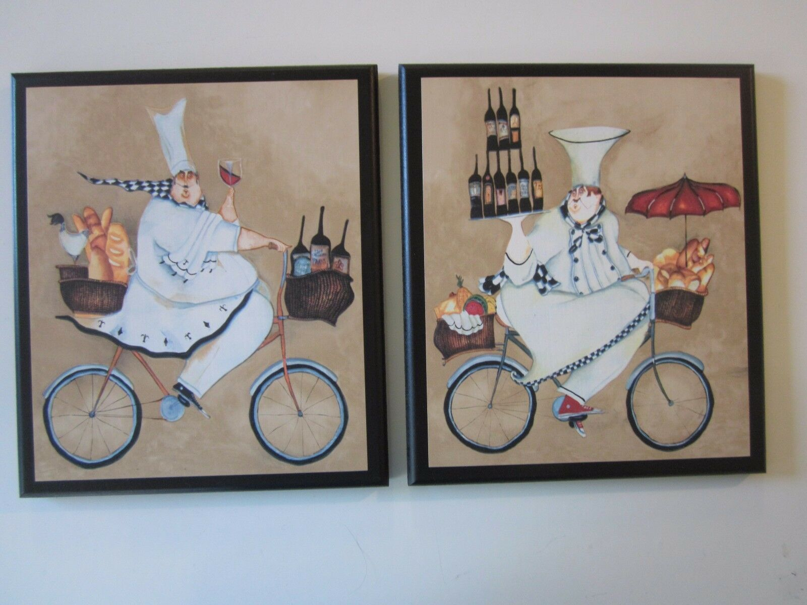 Chefs Kitchen Wall Decor Signs Fat Chef on Bicycles 2
